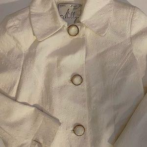 Milly of New York 2 blazer jacket white crop